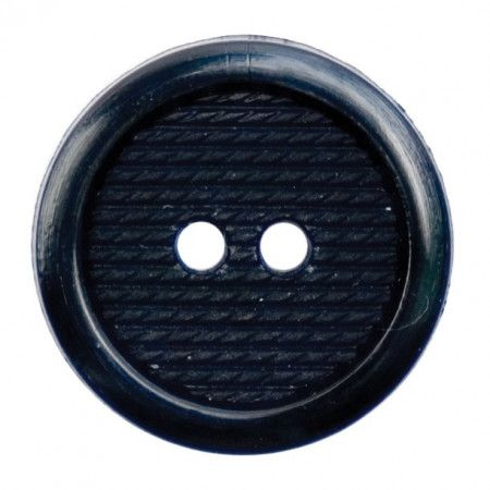 Size 20mm, 2 Hole, Stitch Effect, Black, Pack of 3