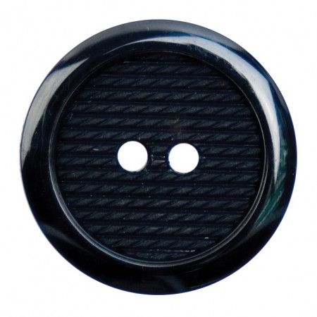 Size 25mm, 2 Hole, Stitch Effect, Black, Pack of 2