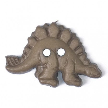 Size 28mm, Dinosaur Shaped, Brown, Pack of 2