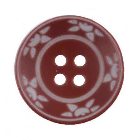 Size 25mm, 4 Hole, Sun Pattern, Brown, Pack of 2