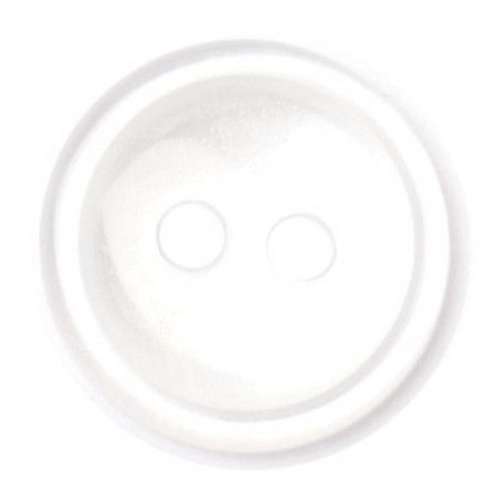 Size 11mm, 2 Hole, Pearl White, Pack of 8