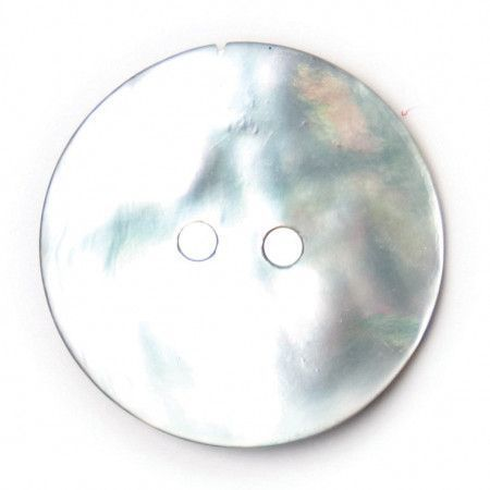 Size 22mm, 2 Hole, Metallic Effect, Silver, Pack of 2
