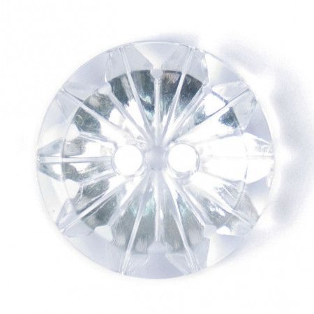 Size 17mm, 2 Hole, Diamond Effect, Clear, Pack of 3