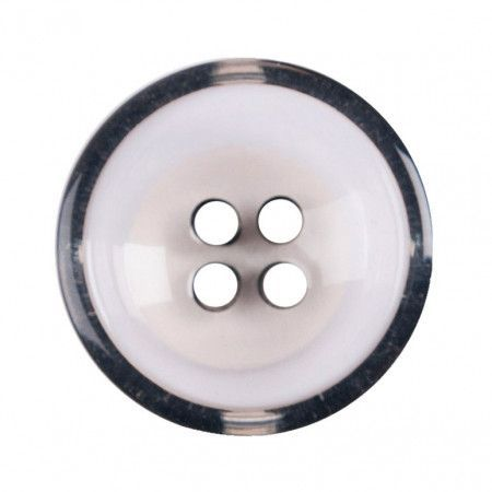Size 17mm, 4 Hole, Clear/Black, Pack of 3