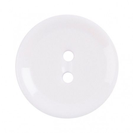 Size 15mm, 2 Hole, White, Pack of 5