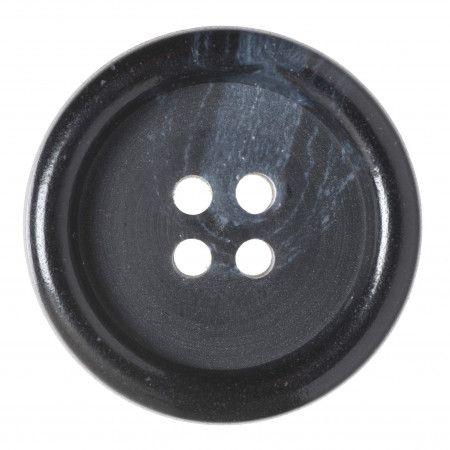 Size 25mm, 4 Hole, Mottled Effect, Black, Pack of 2