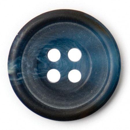 Size 20mm, 4 Hole, Mottled Effect, Black/Blue, Pack of 3