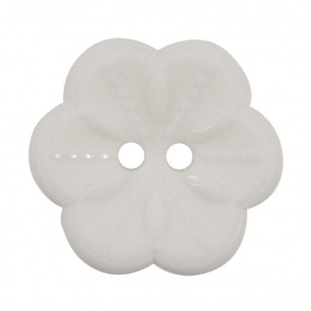 Size 22mm, 2 Hole, White, Pack of 2