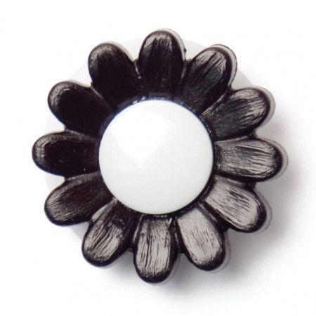 Size 14mm, Shank, Black/White, Pack of 3