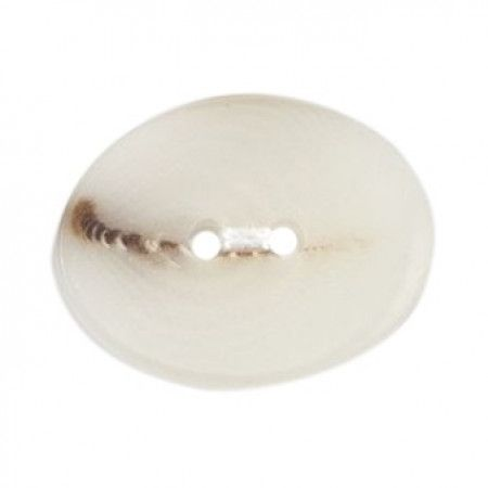 Size 22mm, 2 Hole, Marble Effect, Pearl White, Pack of 2