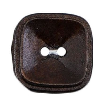 Size 22mm, 2 Hole, Wood Effect, Brown, Pack of 2
