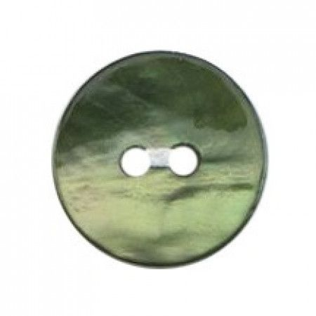 Size 12mm, 2 Hole, Mother Of Pearl Effect, Green, Pack of 4