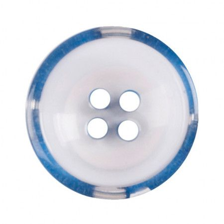 Size 17mm, 4 Hole, Clear/Blue, Pack of 3