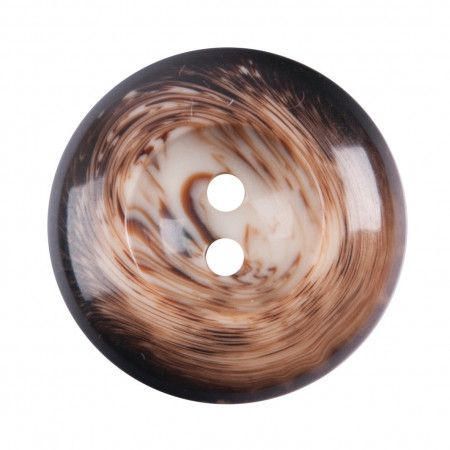 Size 17mm, 2 Hole, Tortoiseshell Effect, Brown, Pack of 3