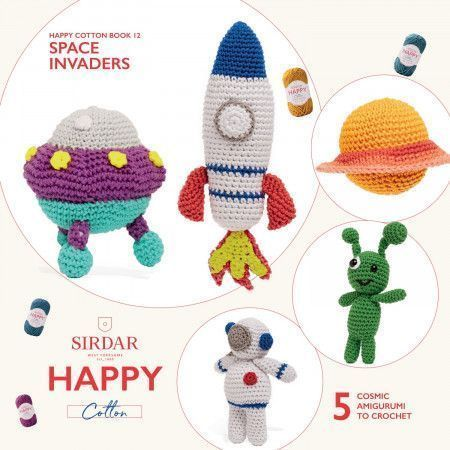 Sirdar Happy Cotton Book 12 - Space Invaders