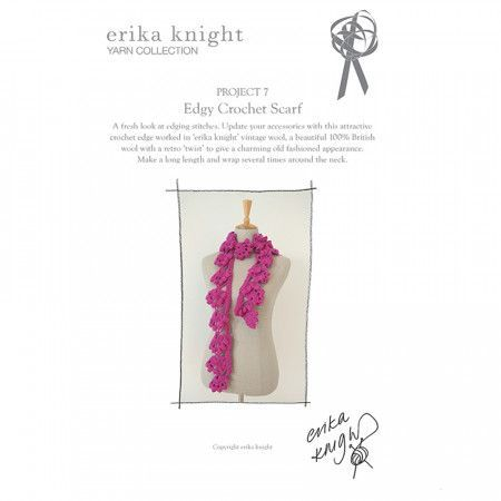 Edgy Crochet Scarf in Erika Knight Vintage Wool (Project 7)