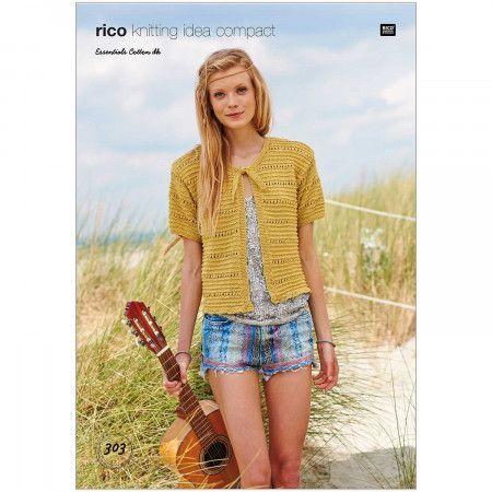 Cardigans in Rico Essentials Cotton DK (303)