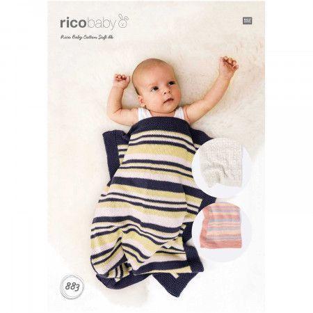 Blankets in Rico Baby Cotton Soft DK (883)