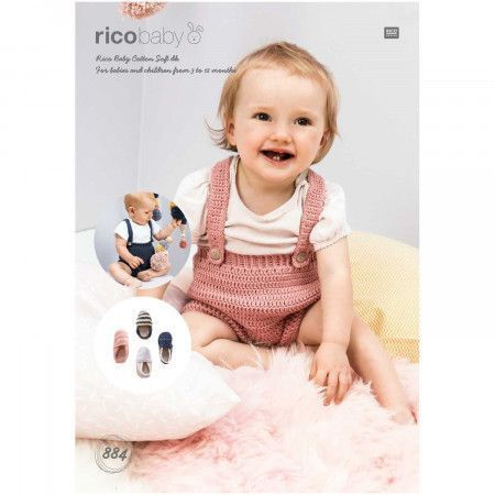 Trousers and Espadrilles in Rico Baby Cotton Soft DK (884)