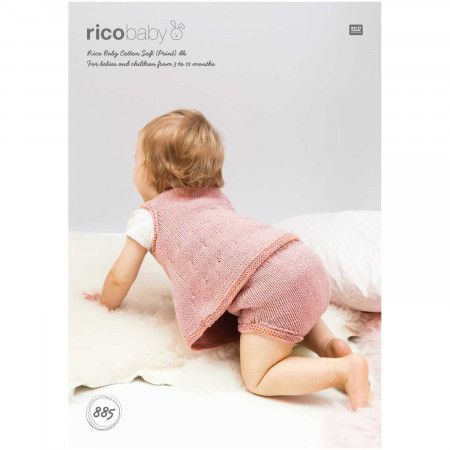 Dress and Panties in Rico Baby Cotton Soft DK (885)