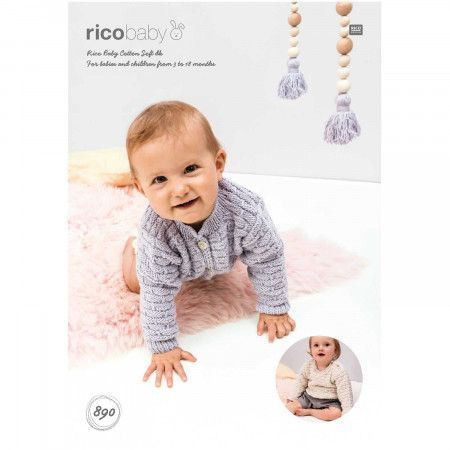 Sweater and Cardigan in Rico Baby Cotton Soft DK (890)