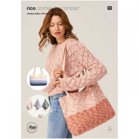 Bags and Pot Holder in Rico Creative Cotton Aran and Creative Cotton Print Aran (899)