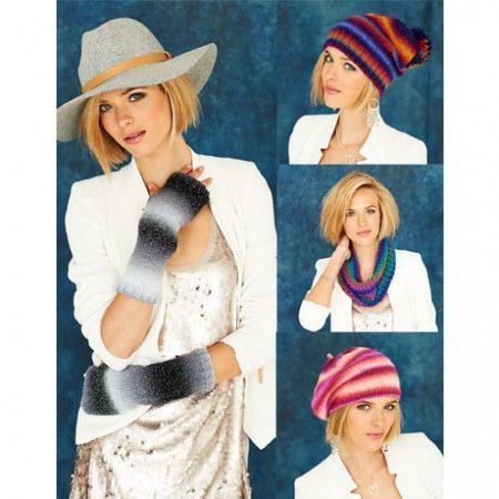 Snood, Beret, Slouchy Hat and Mittens in Stylecraft Cabaret DK (9186)