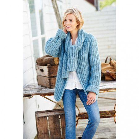Cardigan and Sweater in Stylecraft Alpaca Tweed Chunky (9205)