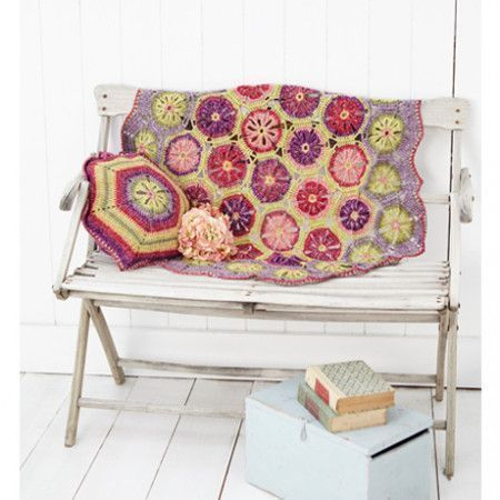 Flower Blanket and Cushion Cover in Stylecraft Batik DK (9298)