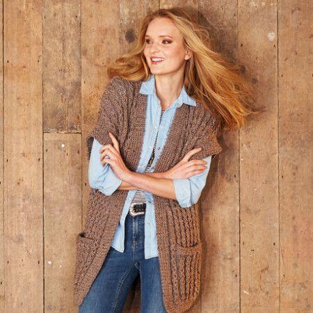 Jacket and Waistcoat in Stylecraft Alpaca Tweed Chunky (9321)