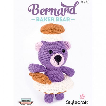 Amigurumi Bernard Baker Bear in Stylecraft Classique Cotton DK (9329)