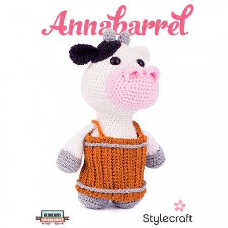 Amigurumi Annabarrel Cow in Stylecraft Classique Cotton DK (9330)