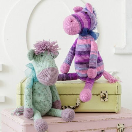 Pony and Donkey in Stylecraft Wondersoft Merry Go Round DK, Life DK, Eskimo, Alpaca Tweed DK and Alpaca DK (9354)