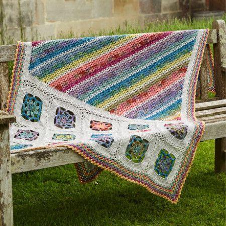 Blanket and Cushion in Stylecraft Batik DK and Batik Elements DK (9448)
