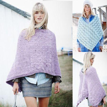 Ponchos in Stylecraft Alpaca Tweed DK (9452)
