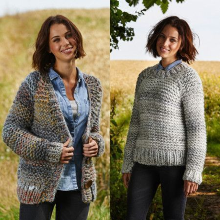 Sweater and Cardigan in Stylecraft Swift Knit Mega (9465)