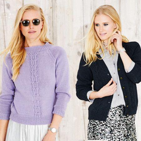 Sweater and Cardigan in Stylecraft Jeanie Denim Look (9495)