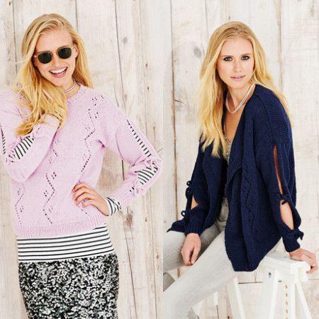 Jacket and Sweater in Stylecraft Jeanie Denim Look (9497)
