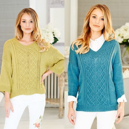 Sweaters in Stylecraft Linen Drape DK (9512)