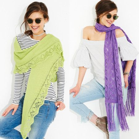 Shawls and Scarf in Stylecraft Classique Cotton 4 Ply (9517)