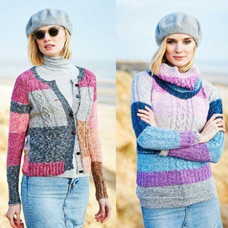 Cardigan, Sweater and Cowl in Stylecraft Batik Swirl DK (9536)