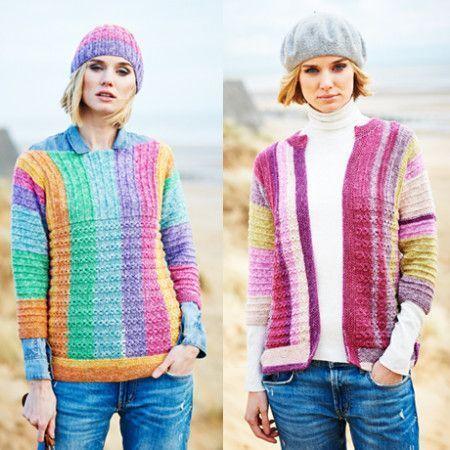 Sweater, Cardigan and Hat in Stylecraft Batik Swirl DK (9537)