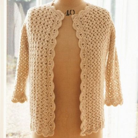 Vintage Ladies Cardigan Crochet Pattern