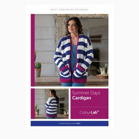 Summer Days Cardigan in West Yorkshire Spinners ColourLab DK Pattern