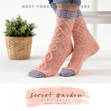 Secret Garden Socks in West Yorkshire Spinners Signature 4 Ply (DBP0037)