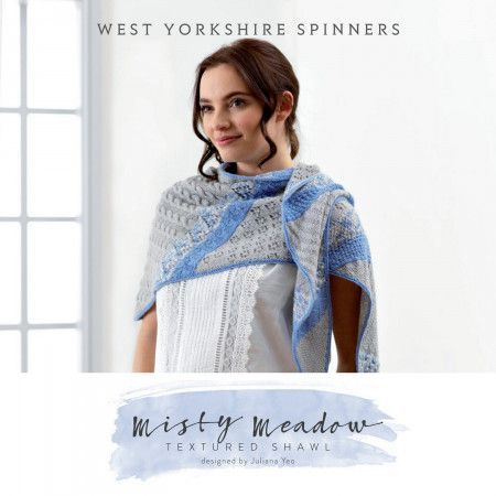 Misty Meadow Shawl in West Yorkshire Spinners Signature 4 Ply (DBP0038)