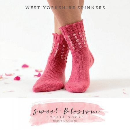 Sweet Blossom Socks in West Yorkshire Spinners Signature 4 Ply (DBP0039)