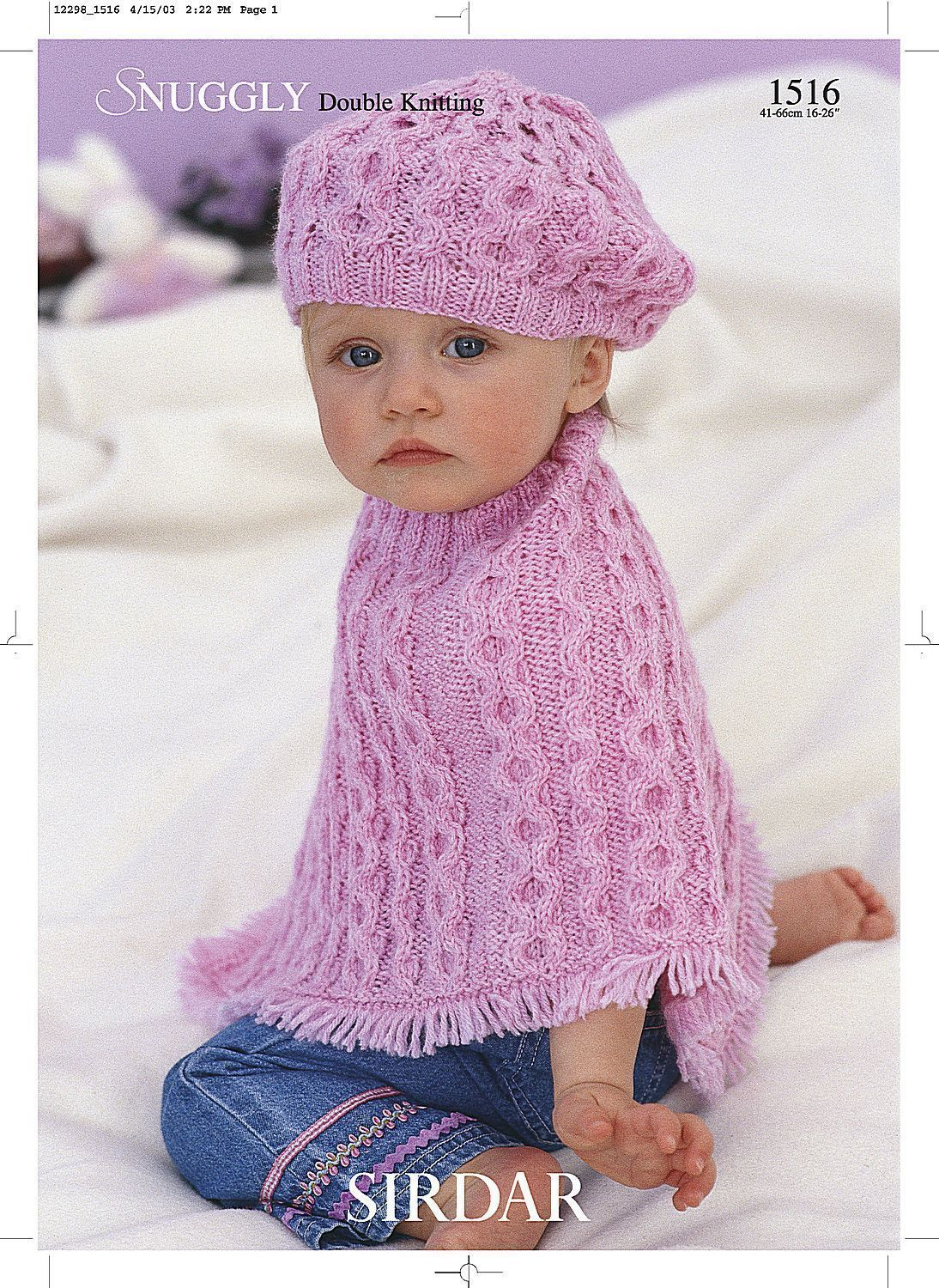 Poncho And Beret In Sirdar Snuggly Dk 1516 The