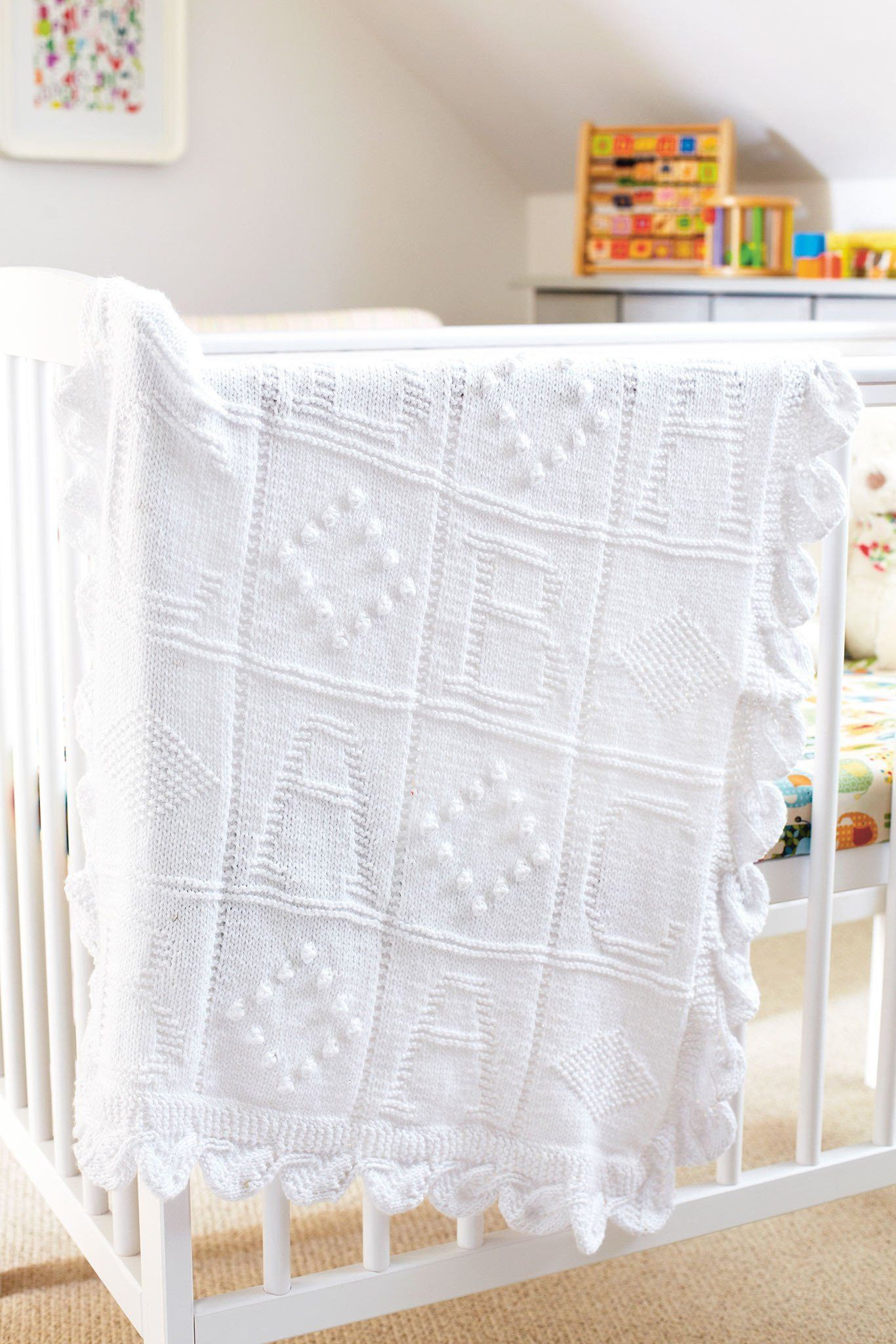 Abc Baby Blanket Knitting Pattern