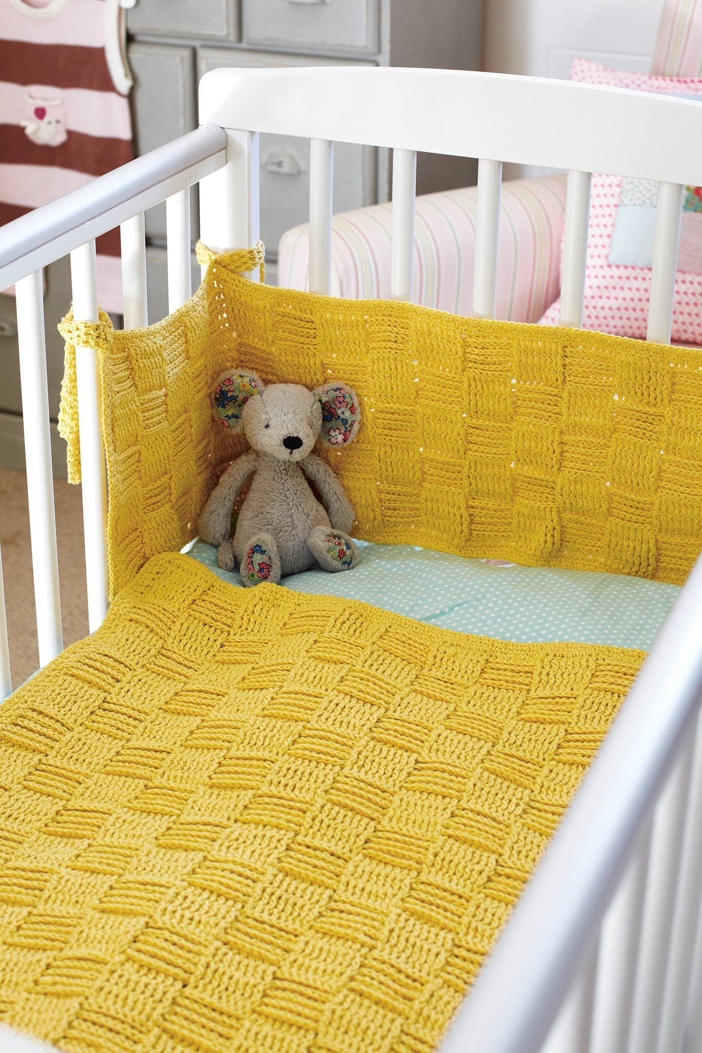 Baby Blanket And Cot Bumper Crochet Patterns | The ...